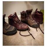 Vascular boots with Gore-Tex brown leather