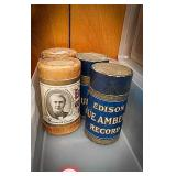 4 phonograph cylinder records including Edison