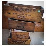 4 wooden powder boxes