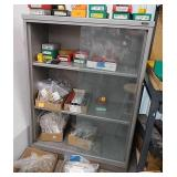 Nice metal storage case with two glass doors