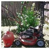 Snapper push lawn mower in various stages of