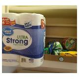 6 rolls of paper towels and a selection of