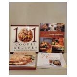 Four Hardback Cookbooks.