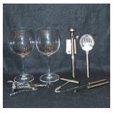 Waterford Wine Glasses and Bar Items.