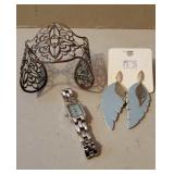 Silver and Light Blue Jewelry