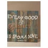 Rustic Painted Wooden Sign Decor.