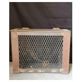 Rustic Metal Crate.