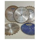 "Various 10"" Saw Blades."