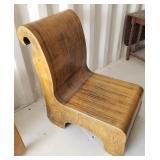 Unique Shaped Wood Chair