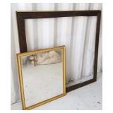 Large Picture Frame and Mirror