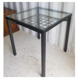 Metal Frame/Glass Top Table