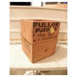 """FULLER PAINTS WOOD BOX, 14"""" T X 11 1/2"""""""
