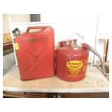 2 METAL GAS CANS