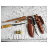 2 SHARP KNIVES IN SHEATH, FILET KNIFE