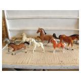 7 TOY HORSES, SOME REPAIRS