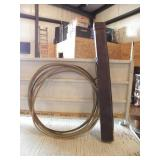 1 RANCH ROPE, 1 LEATHER POOL CUE CASE