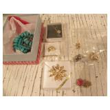 EARRINGS, BROUCH, NECKLACE, PIN