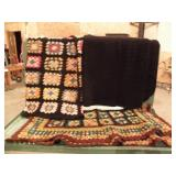 3 QUILTED AFGHANS