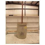 3 GAL STONEWARE BUTTER CHURN, NO CRACKS OR CHIPS