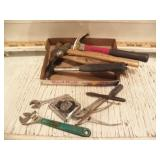 HAMMERS, CRESCENT WRENCHES, TAPE MEASURE, PLIERS