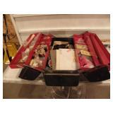METAL BOX FULL OF FLY TYNG ITEMS