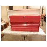 """PAR-X RED TOOL BOX, 14 1/2"""" T X 26"""" L X 12"""" W"""