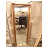"""VINTAGE WALL HANGING BODY MIRROR, 59 1/4"""" X 21 1/4"""