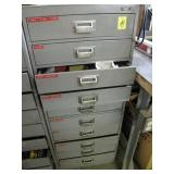 10 DRAWER CABINET FULL OF HARDWARE AND OTHER ITEMS