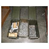 3 AMMO CANS W/ CHAIN AND MORE