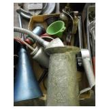 FUNNELS, OIL FILTER WRENCHES OIL CANS