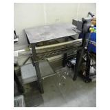 WELDING TABLE W/ BENCH VISE