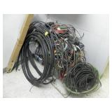 LARGE PILE OF WIRES