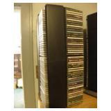 ROTATING CD DISPLAY FULL OF CD
