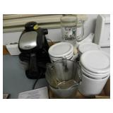 CANISTER SET, GLASS PITCHER, DELONGHI COFFEE MAKER