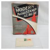Postage Stamp Album and Air Mail Post Cards