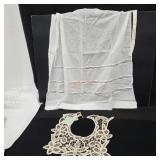 Vintage Cotton Apron and Lace Collar