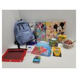 Lot of assorted school supplies including new