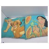 2 Vintage Disney Lion King/ Pocahontas Pillows