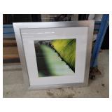 Framed matted leaf print
