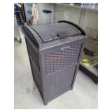 Suncast Outdoor Decorative Garbage Can
