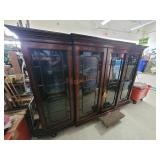 Gorgeous Drexel Lighted Hutch Top w/ Glass Shelves