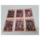 6 Detroit Pistons 1989 Fleer Basketball Cards