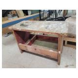 Solid Wood Storage Work Bench