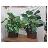 Pair of Artificial Potted Plants
