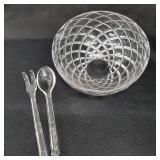 Crystal Salad Bowl and Serving Pieces