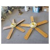 Pair of Brass Ceiling Fans