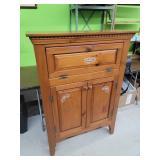 Vintage Pine Wood Painted Cabinet