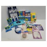 Lot of assorted medical supplies and foot support