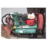 HONDA  11HP-GX340 GAS AIRCOMPRESSOR- ON WHEELS
