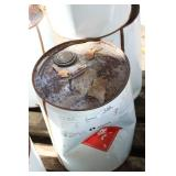 20L CONTAINER OF ACETONE, LABORATORY STEEL PAIL